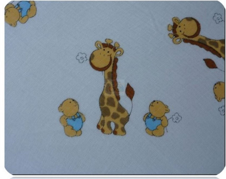 Mullwindel 5 St. bunt Stoffwindel Spucktuch 70x80 mit dem Motiv: Giraffe weiss
